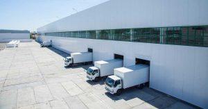 A warehouse financed through SBA 504 small business financing.