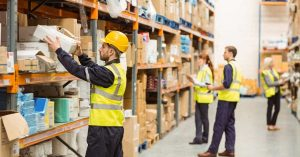 Warehouse Workers in an eCommerce Warehouse