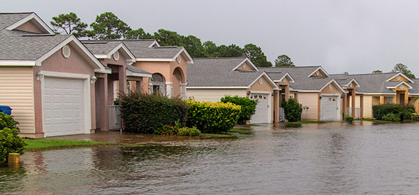 Flooded neighborhood