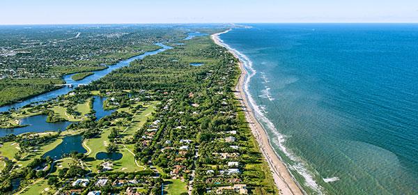 Florida coastline aerial