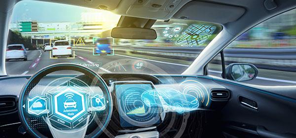 Self driving car dashboard