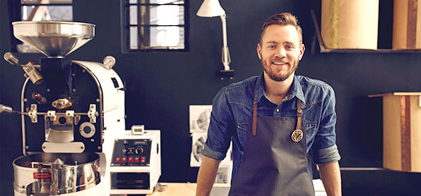 Small business owner coffee maker