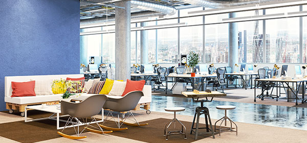 Flexible open office space